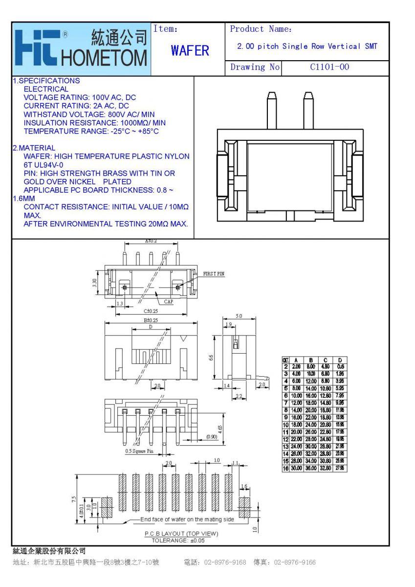Horng Tong Enterprise Co Ltd Specification Of Electrical Plan Depiction